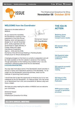 View of the sixth newsletter